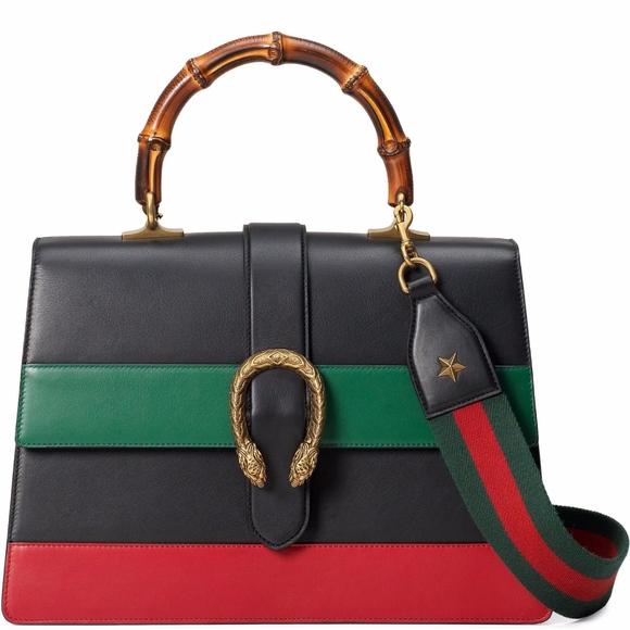 Gucci Handbags - Gucci Dionysus Large Bamboo top handle bag NWT